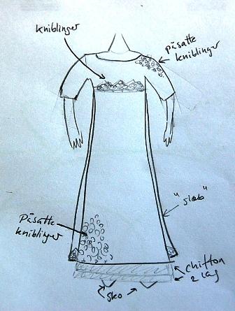 En hurtig håndtegning af min brudekjole